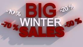 Stora vinterförsäljningar Arkivbild