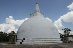 Stora vita Dagoba Anuradhapura Sri Lanka Royaltyfri Bild
