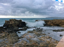 stora waves Royaltyfria Foton