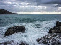 stora waves Royaltyfri Foto