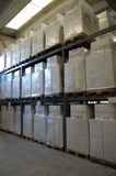 Storage. Boxes stored on a warehouse,wrapped Royalty Free Stock Photo