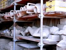 Storage of antiquities Stock Image