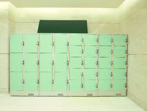 Storage area and locker Stock Images