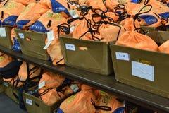 Storage of back packs at Fargo Marathon