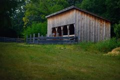 Storage Barn Shed at Old World Wisconsin Royalty Free Stock Images