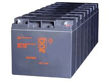 Storage batteries stock image