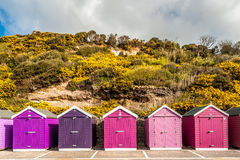 Storage beach huts Royalty Free Stock Photos