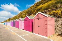 Storage beach huts royalty free stock photo
