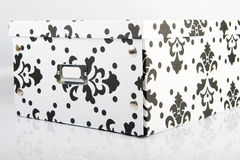 Storage Box. Picture of black and white storage box Royalty Free Stock Images