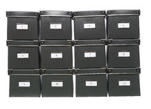 Storage boxes Stock Photography
