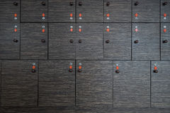 Storage boxes with keys stock photography