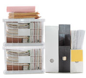 Storage Boxes: Pile of Work  Royalty Free Stock Image