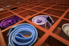 Storage boxes for ties Royalty Free Stock Image