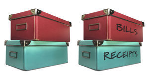 Storage boxes Royalty Free Stock Photos