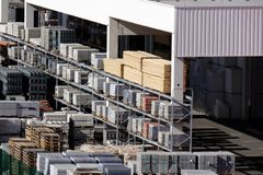 Storage of building materials Royalty Free Stock Photography