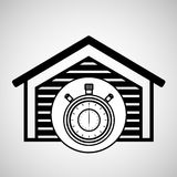 Storage building service clock timer Stock Photography
