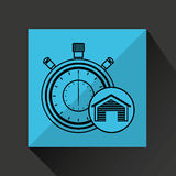 Storage building service clock timer Royalty Free Stock Photography