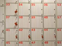 Storage cells in the supermarket Royalty Free Stock Photography