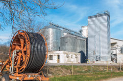 Storage of cereals, production of biogas and irrigator Stock Image