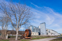 Storage of cereals, production of biogas and irrigator Stock Photos