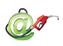 Storage concept with a gas pump nozzle Stock Photo