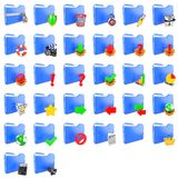 Storage Concept. Set of Folders Icons. Stock Photos