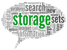 Storage concept in word cloud Royalty Free Stock Images