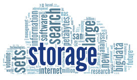 Storage concept in word cloud Royalty Free Stock Photos