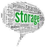 Storage concept in word cloud Stock Image