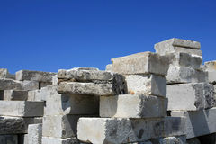 Storage concrete blocks Royalty Free Stock Photography