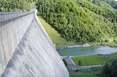 Storage dam - Bicaz - Romania Royalty Free Stock Photography