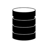 Storage database disks Royalty Free Stock Photos
