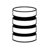 Storage database disks Stock Photos