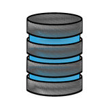 Storage database disks Royalty Free Stock Photography