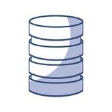 Storage database disks Royalty Free Stock Image