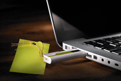 Storage device. That plug in the laptop Stock Image