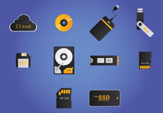 Storage devices Stock Photo