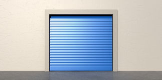 Storage Door and Wall Closed Royalty Free Stock Photos