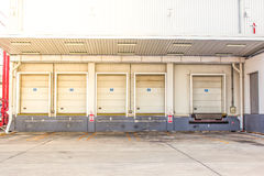 Storage entrances. Entrance to the storage warehouse Stock Photography