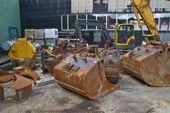 Storage (excavators and excavation equipment) Stock Images