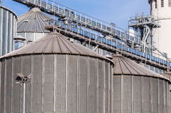 Storage facility cereals, and biogas production Royalty Free Stock Photography