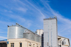Storage facility cereals, and biogas production Stock Image