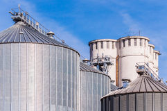 Storage facility cereals, and biogas production Stock Photography