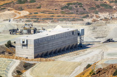 Storage facility of a mining industry Royalty Free Stock Image