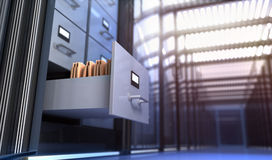 Storage. Files in the storage room Royalty Free Stock Photo