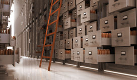 Storage. Files in the storage space Stock Images