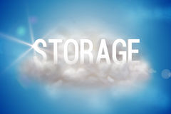 Storage on a floating cloud Royalty Free Stock Images