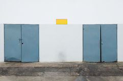 Storage and garbage rooms outside building Stock Photos