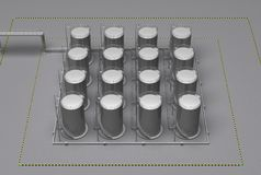 Storage barrels of gas. Storage group barrels of gas 3d rendering Stock Photography