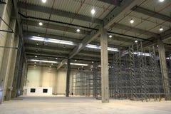 Storage hall. Empty storage hall in a factory Stock Photo